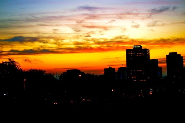 Sunrise Montreal Skyline