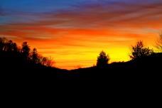 Winter Sunset Virginia