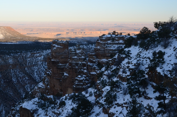 Snow Grand Canyon