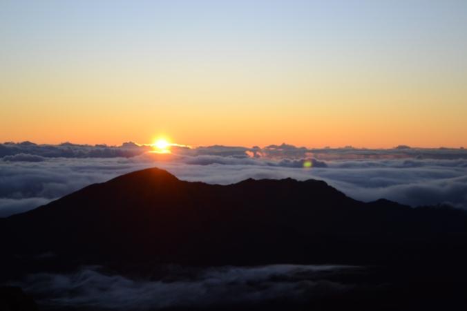 Sun Rising Haleakala.JPG